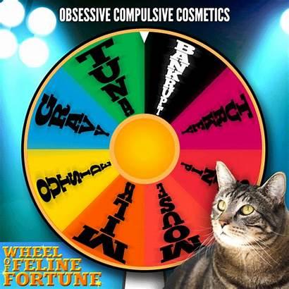 Tabs Cat Fortune Wheel Makeup Beauty Mascot