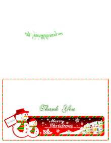 Christmas Thank You Cards Free Printables