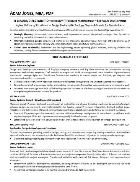 Application Development Project Manager Resume by It Software Development Lead Resume Sle On Behance
