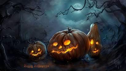 Halloween Backgrounds Happy Pumpkins Scary
