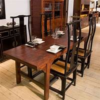 narrow dining tables Narrow Dining Table Set with Benches from Indoor Furniture ...