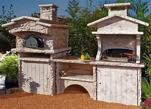 Four Pizza Exterieur : cuisine d ete barbecue four a pain ~ Melissatoandfro.com Idées de Décoration