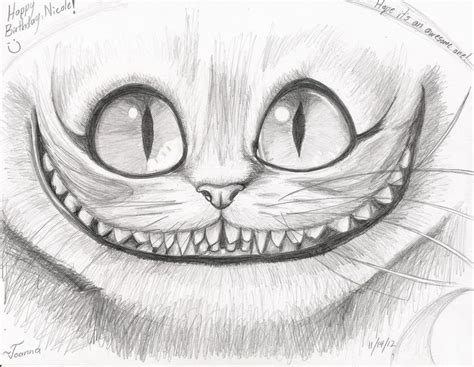 drawn cheshire cat pencil   color drawn cheshire cat