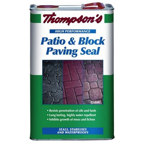 thompsons patio and block paving seal 5 litre