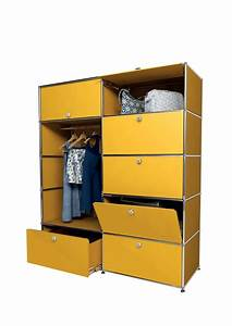usm modular furniture wardrobe yellow meuble usm haller With meuble usm haller