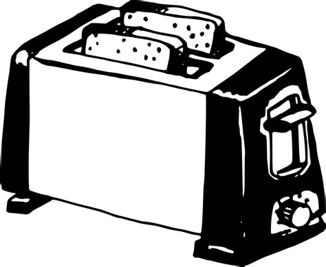 toaster clipart black and white clipart toaster