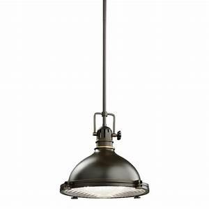 Kichler light industrial pendant oz olde bronze
