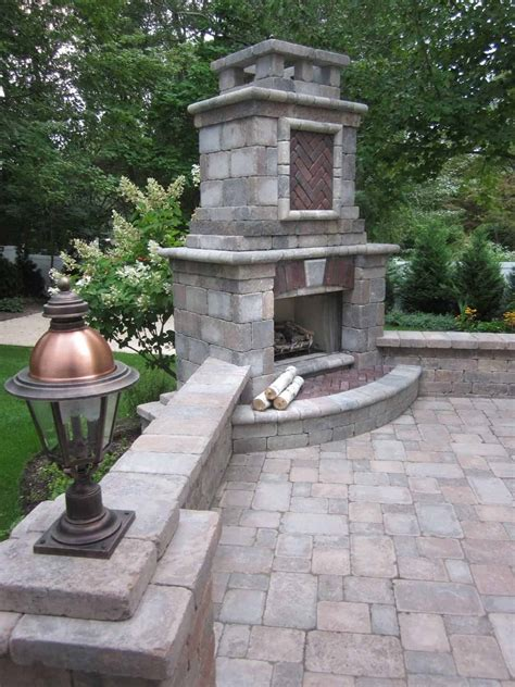 Unilock Fireplace Dimensions - features places island