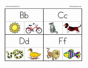 number names worksheets letter sound pictures free With letter sound cards