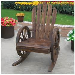 wagon wheel rocker chair findgift