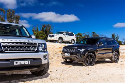 jeep grand cherokee  land rover discovery  toyota
