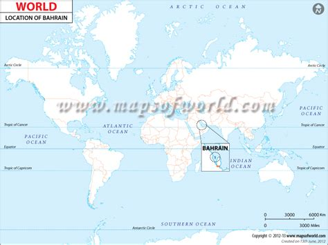 Where is Bahrain located? Location map of Bahrain