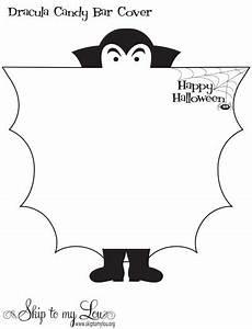 halloween treats With bat candy bar wrapper template