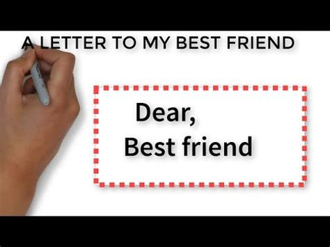 a letter to my best friend a letter to my best friend white board animation 31973