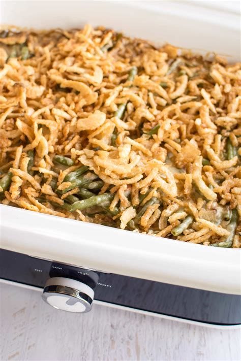 slow cooker fresh green bean casserole slow cooker gourmet