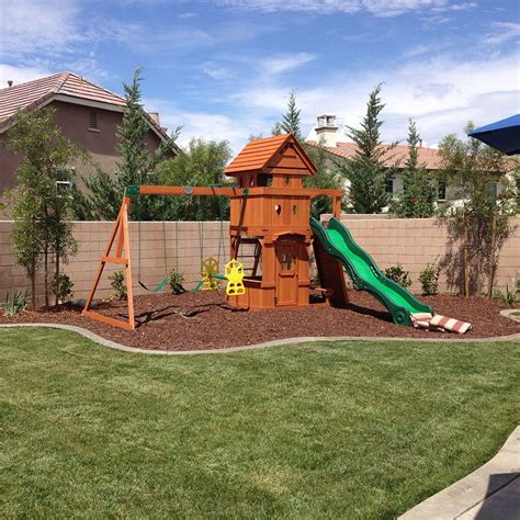 landscaping  swing sets  images backyard