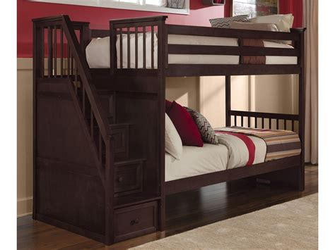 highlands harper twin  full bunk bed driftwood ne kids