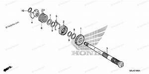 Honda Motorcycle 2005 Oem Parts Diagram For Kick Starter