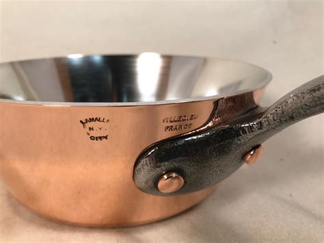 french   splayed copper tin lined sauce pan rocky mountain retinning