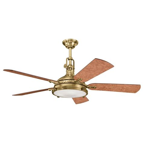 ceiling fan with pendant light kichler burnished brass ceiling fan with light kit
