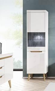 Standvitrine Weiß Hochglanz : vitrine standvitrine glasvitrine 53cm wei hochglanz ~ Watch28wear.com Haus und Dekorationen