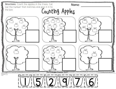 apple centers for kindergarten fall theme kindergarten
