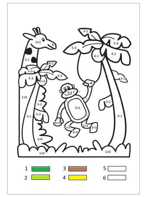 Monkey Color By Number « Funnycrafts