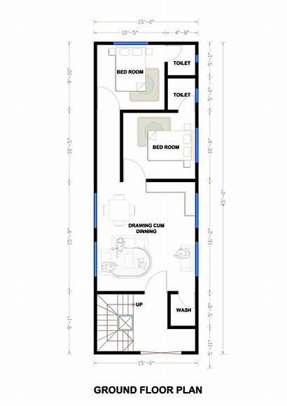 Plan 45 Plans Floor 15x45 Duplex Area