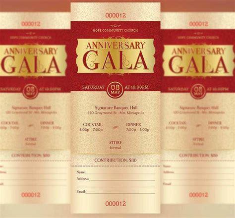 annual church gala ticket designs templates psd ai