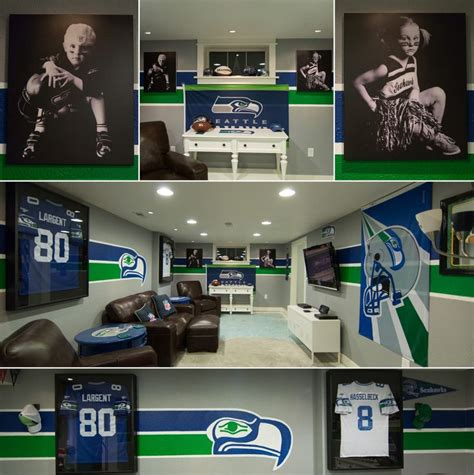 mancave seahawks familyroom footballroom this is a picture of my seahawks cave for the