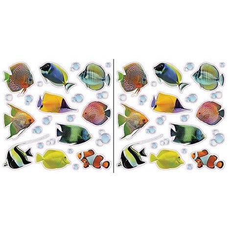 fish  bubbles  adhesive window decals
