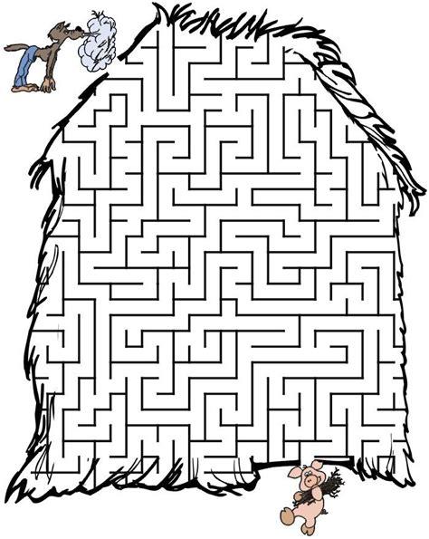 מבוכים לילדים מבוך הזאב והחזיר Three little pigs Maze