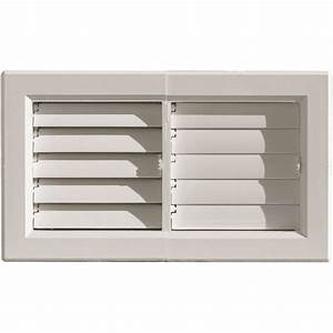 grille ventilation pvc pour air chaud jusqu39a 120 With porte d entrée pvc avec aeration salle de bain vmc