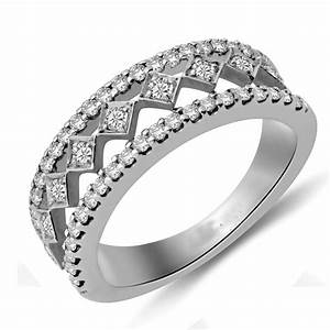Beautiful Round Diamond Wedding Band For Her JeenJewels
