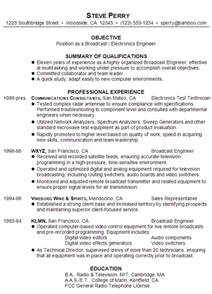 professional resume format for freshers resume for a broadcast electronics engineer susan ireland resumes