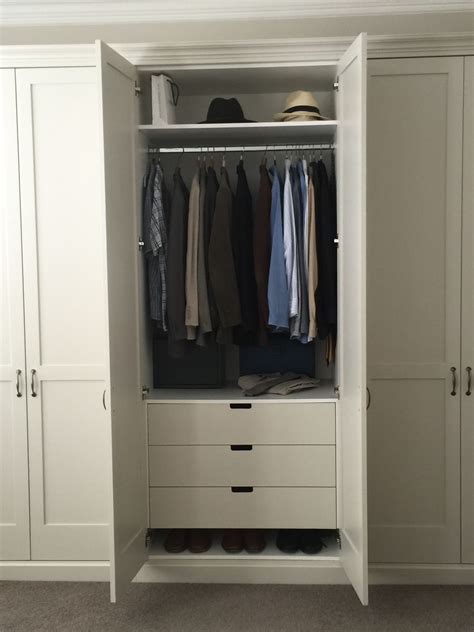 Wardrobe With Drawers And Hanging by Traditional Shaker Wardrobes With Drawers Inside Shelves