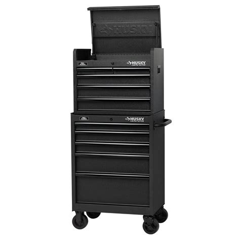 husky tool storage cabinets husky 27 in 10 drawer tool chest and cabinet set