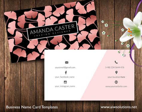 leaf name card template ginkgo leaf symbolic meaning 187 designtube creative