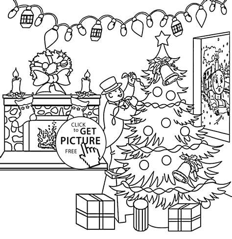 christmas thomas train coloring pages  kids printable