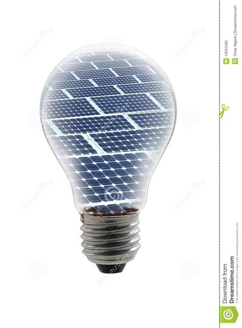 solar panels bulb stock photo image 16561560