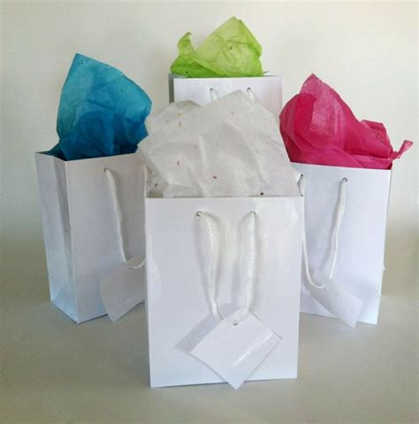 wholesale lot  small glossy white gift bags wedding