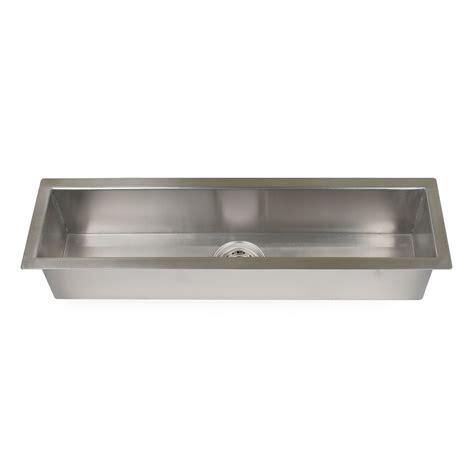 Executive Zero-Radius Stainless Steel Trough Sink - Kitchen