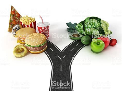 choice  fast food  healthy food stock photo