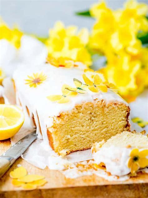 vegan lemon drizzle cake  lemon icing  sugar paper