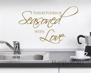 wall decals for kitchen contemporary kitchen ideas With best brand of paint for kitchen cabinets with quotes wall art stickers