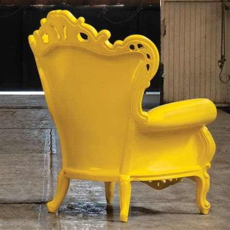 plastic luigi armchair yellow by polart seating