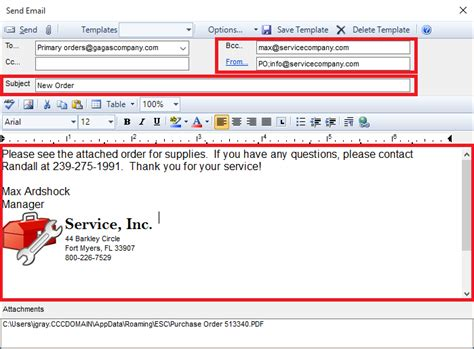 How Do I Email A Purchase Order To My Vendor?  Desco Support