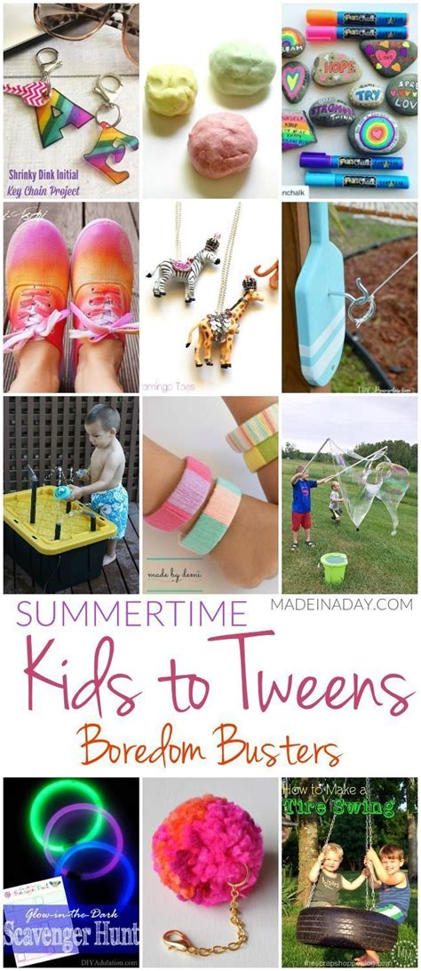 Summertime Kids to Tweens Boredom Busters Fun summer