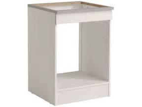 vente de cuisine d exposition meuble bas 60 cm four plaque spoon coloris blanc vente de meuble bas conforama