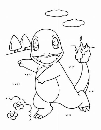 Coloring Pages Pokemon Printable Fire Draw